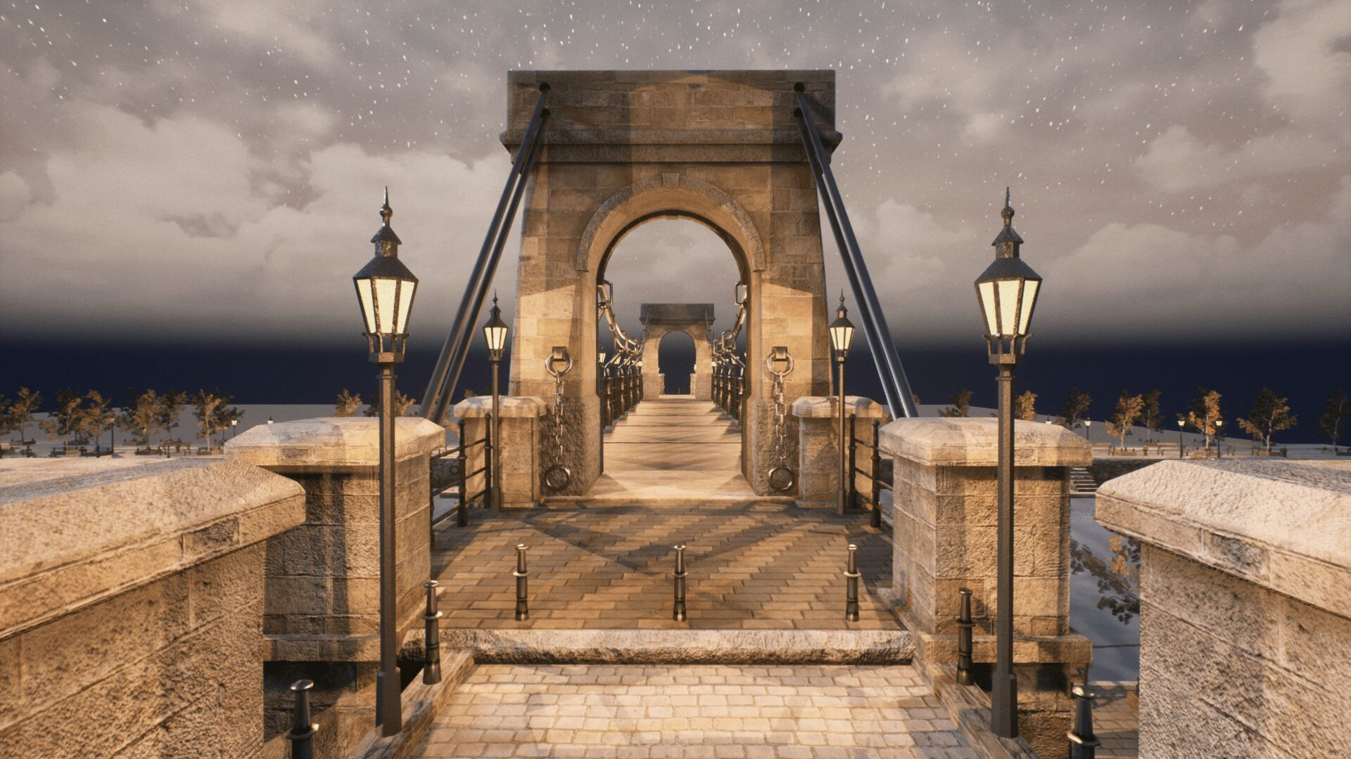 An image showing Bridges asset pack, created with Unreal Engine 4.