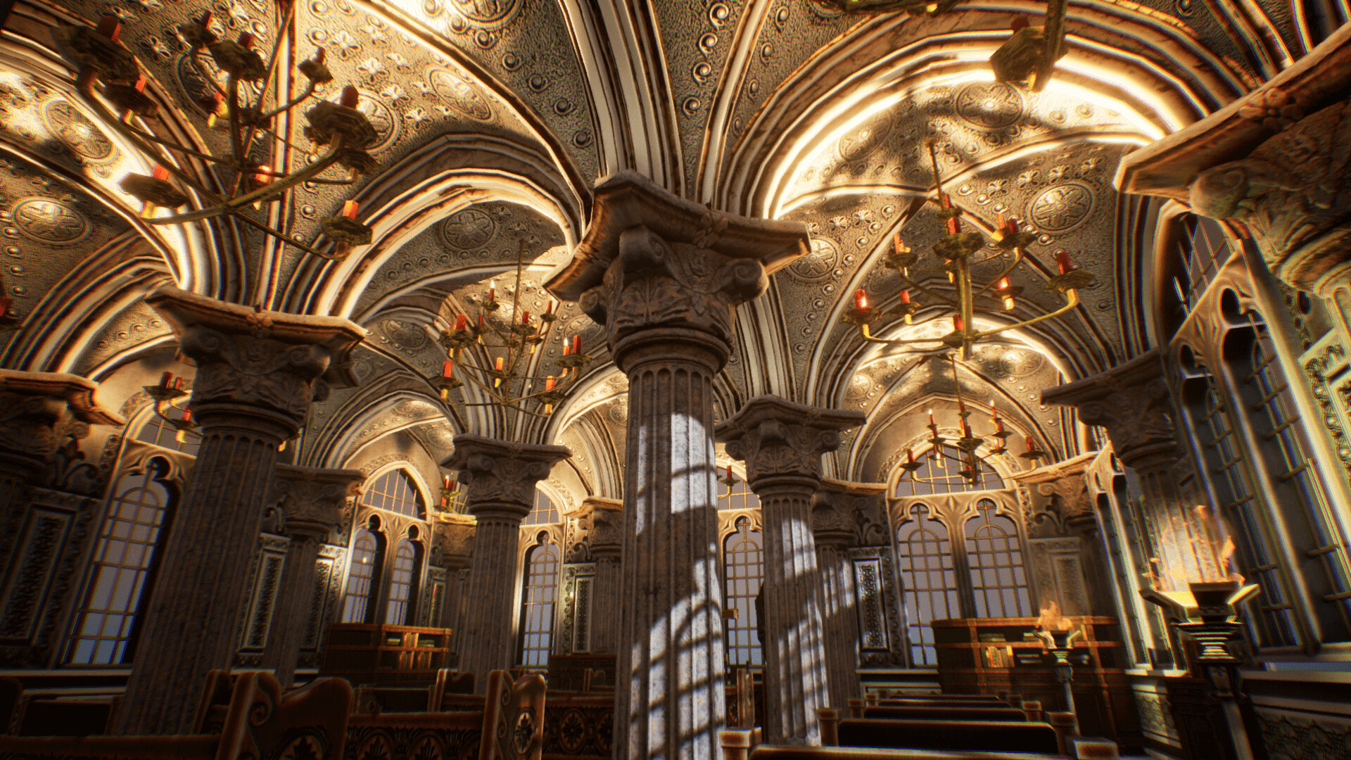 An image showing Church 2, asset pack, created with Unreal Engine.