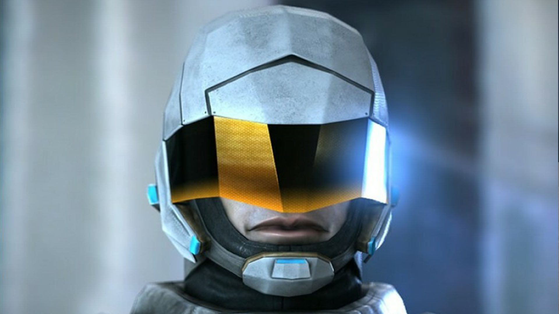 An image showing Futuristic Soldier animated character, created with Unity Engine.
