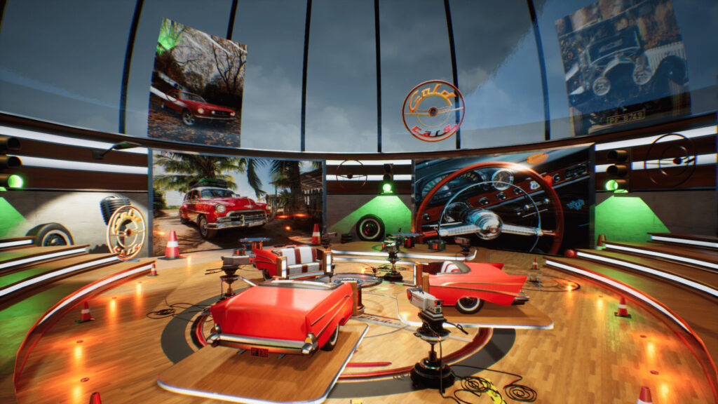 An image showing Gold Cars TV Studio asset pack, created with Unreal Engine 4.