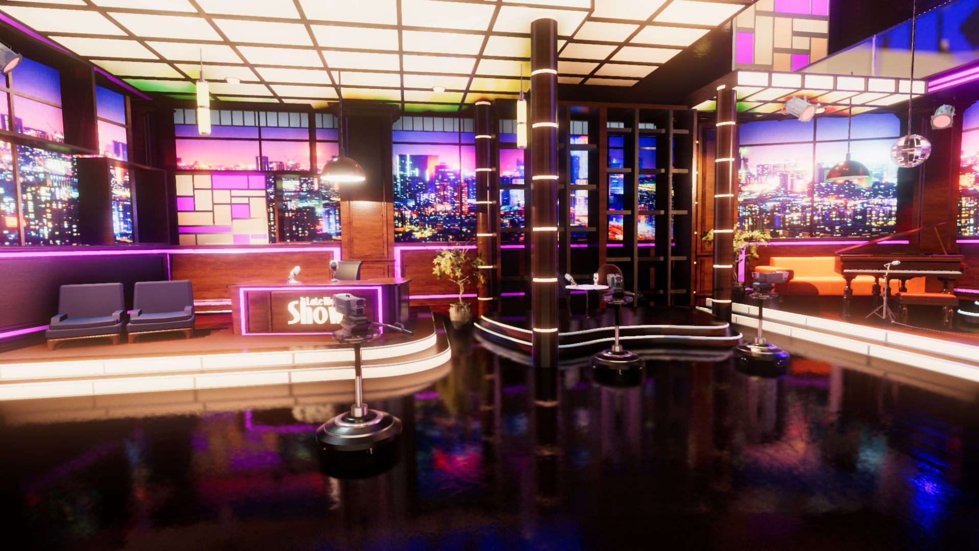An image showing Late Night Show asset pack, created with Unity Engine.